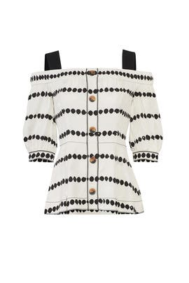 Soft White Dotted Top by Derek Lam 10 Crosby