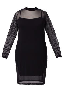 Black Night Cap Dress by JUNAROSE