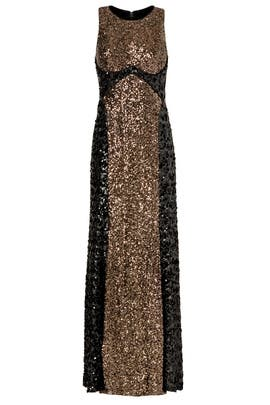 Sequin Silo Gown by Badgley Mischka