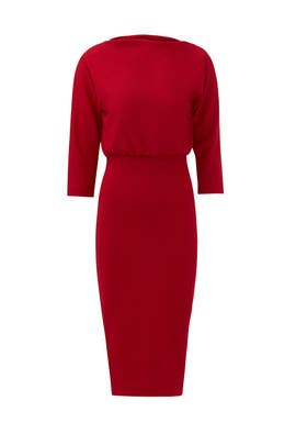 Red French Collar Sheath by Badgley Mischka