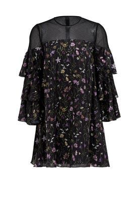 Prairie Floral Trapeze Dress by Cynthia Rowley