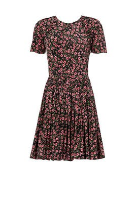 Pink Floral Printed Dress by The Kooples