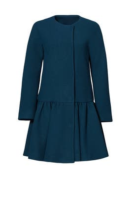Wool Flounce Coat by Milly