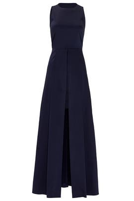 Navy Onassis Gown by Slate & Willow