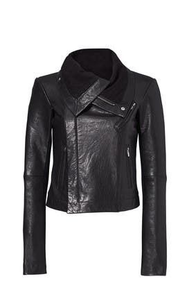 Max Classic Bubble Leather Jacket by VEDA