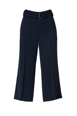 Coastal Belted Cropped Trouser by VINCE.