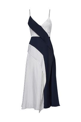 Navy Deconstructed Slip Dress by ADEAM
