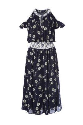 Midnight Cold Shoulder Dress by 10 CROSBY DEREK LAM