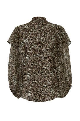 Leopard Chloe Top by SALONI