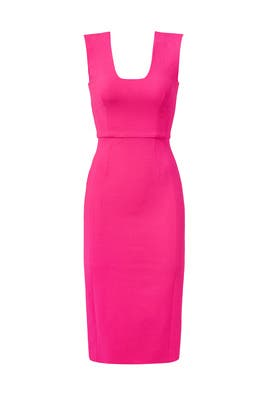 Fuschia Pink Sheath Dress by Antonio Berardi