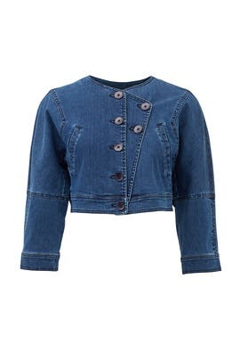 Denim Cropped Jean Jacket by Tibi