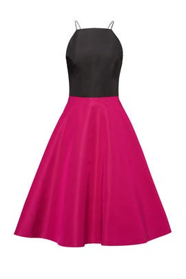 Fuchsia Colorblock Dress by Christian Siriano