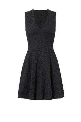 Black Lace Textured Dress by Derek Lam 10 Crosby