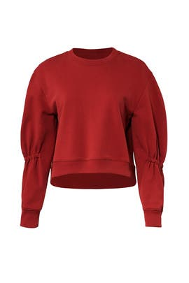Sculpted Sleeve Sweatshirt by Tibi