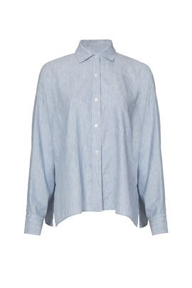 Blue Striped Button Down by VINCE.
