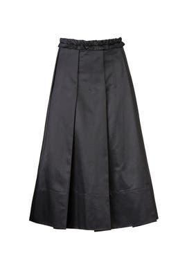 Black Pleated Midi Skirt by Carven