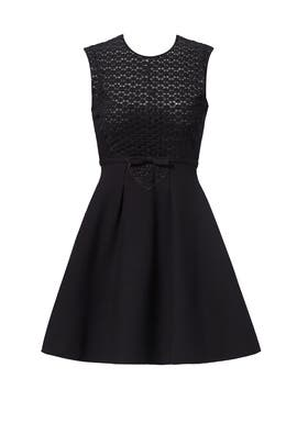 Black Sheer Sweetheart Dress  by Giambattista Valli