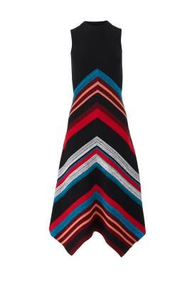 Marled Ottoman Stripe Dress by Proenza Schouler