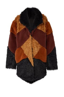 Heavy Hearts Faux Fur Coat by somedays lovin