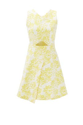 Yellow Meringue Kelsey Dress by Shoshanna