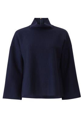Navy Wide Sleeve Sweater by Tara Jarmon
