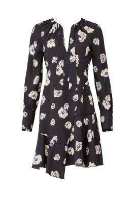 Black Asymmetric Hem Dress by Derek Lam 10 Crosby