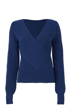 Blue Crossover Knit by Tome