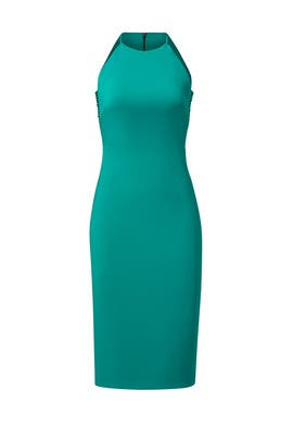 Sea Green Side Cut Sheath by Badgley Mischka