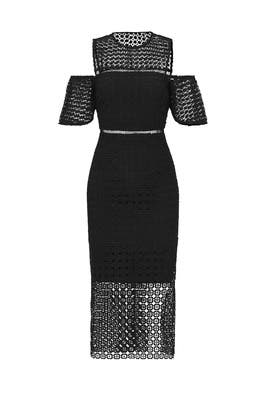 Geometric Lace Cold Shoulder Sheath by Cynthia Rowley