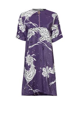 Bird Printed Parachute Silk Dress by Nina Ricci