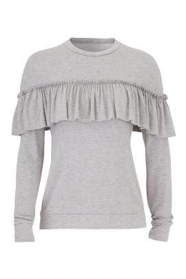Grey Ruffle Sweatshirt by Slate & Willow