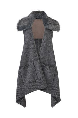 Carbon Faux Fur Vest by KAUFMANFRANCO