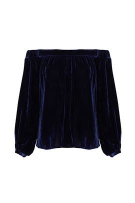 Blue Velvet Top by L'Academie