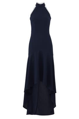 Navy Love No One Gown by ML Monique Lhuillier