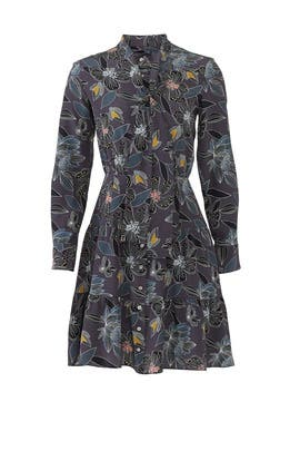 Tie Floral Dress by Becken