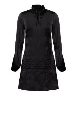 Black Eyelet Silk Dress by 10 CROSBY DEREK LAM