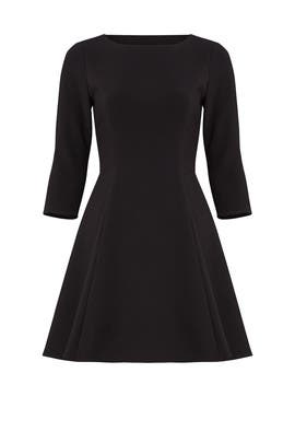 Elbow Sleeve Flare Dress by Halston Heritage