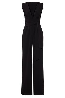 Black Wide Leg Jumpsuit by Halston Heritage