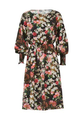 Floral Smock Sleeve Dress by Jay Godfrey