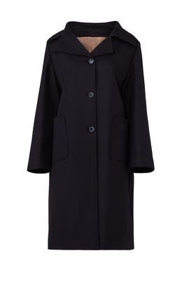 Navy Oversize Coat by Jil Sander Navy