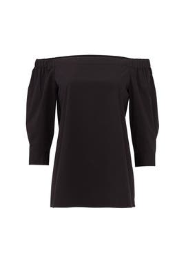 Black Off The Shoulder Shirt by Theory