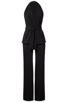 Black Crepe Jumpsuit by Josie by Natori