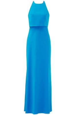 Blue Lovely Duo Gown by Jill Jill Stuart