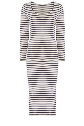 Stripe Sleeve Maternity Dress by MONROW