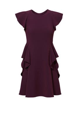 Bordeax Ruffle Dress by Rebecca Taylor