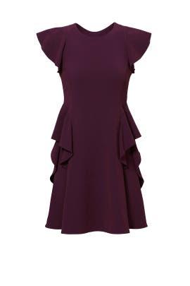 Bordeaux Ruffle Dress by Rebecca Taylor