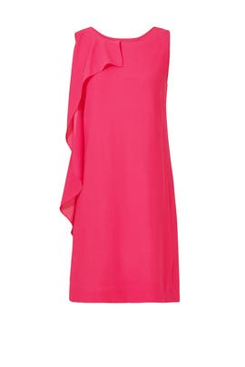 Hot Pink Ruffle Cocktail Dress by Slate & Willow