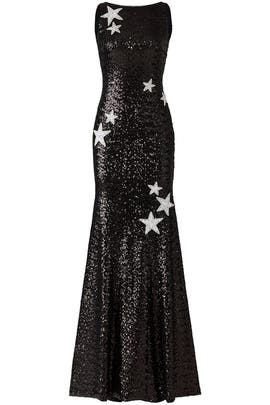 Black Stargaze Gown by Theia