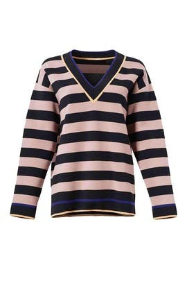 Striped Knit Pullover by Diane von Furstenberg