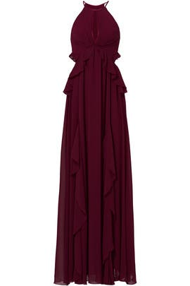 Wine Olivia Gown by ERIN erin fetherston
